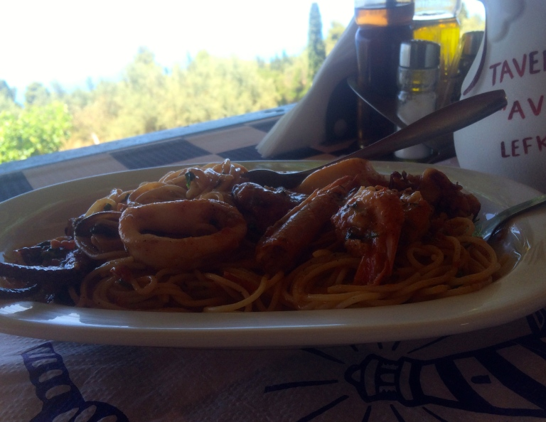pasta z owocami morza/seafood pasta