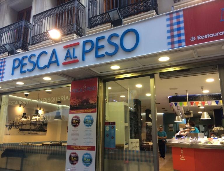 Pesca Al Peso. Restauracja i sklep rybny w Alicante.